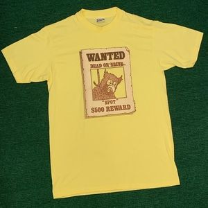 Vintage 90s Spot Wanted poster single stitch tee